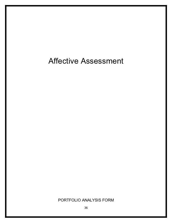Affective Assessment       PORTFOLIO ANALYSIS FORM             36