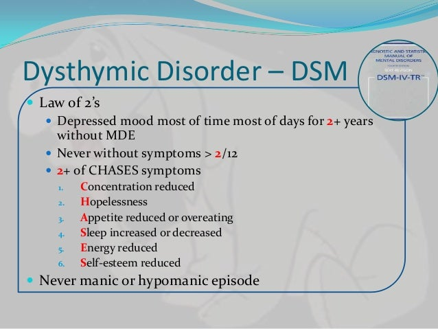Dysthymic depression