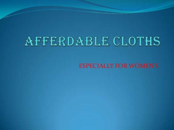 ESPECIALLY FOR WOMEN'S