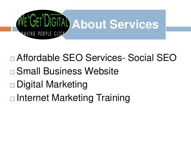Afferdable seo services by digital marketing professionals wegetdegital Slide 2