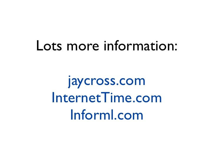 Jay Cross, Aprendizado informal