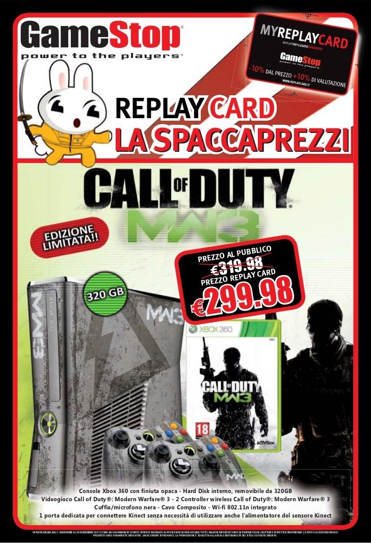 REPLAY CARD                                                              LA SPACCAPREZZI                                  ...