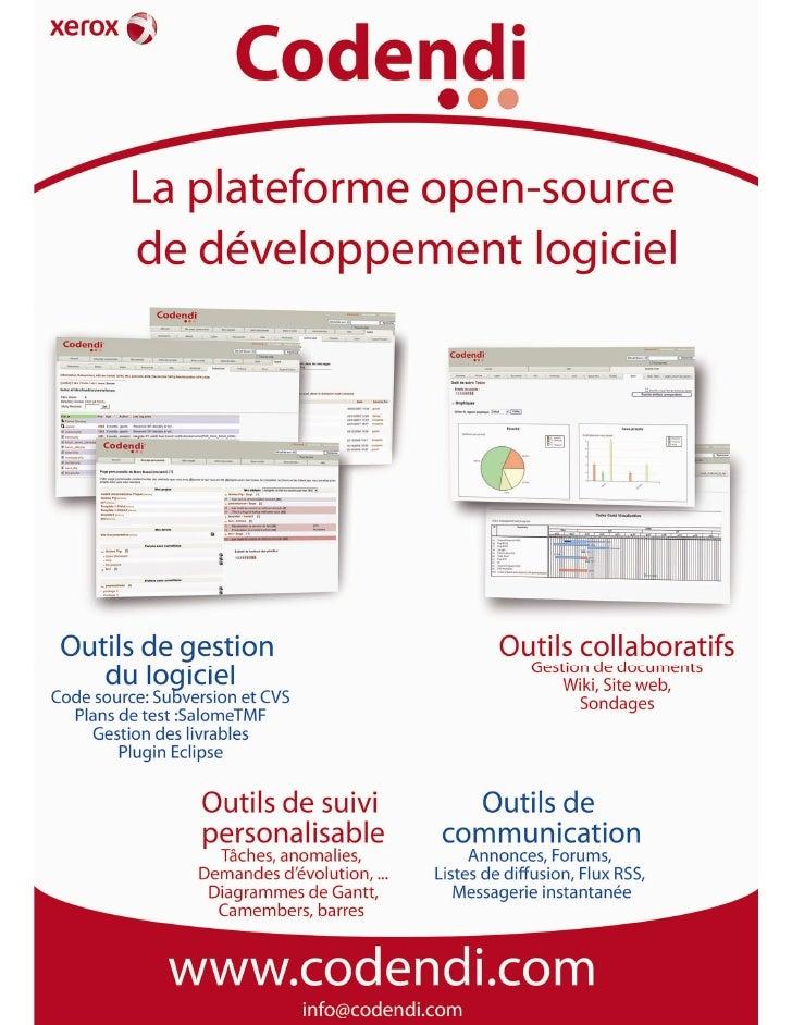 Affiche : Les outils Codendi