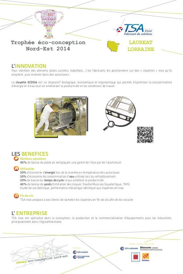 L'INNOVATION  Pour stériliser des aliments (plats cuisinés, babyfood,…) les fabricants les positionnent sur des « clayette...