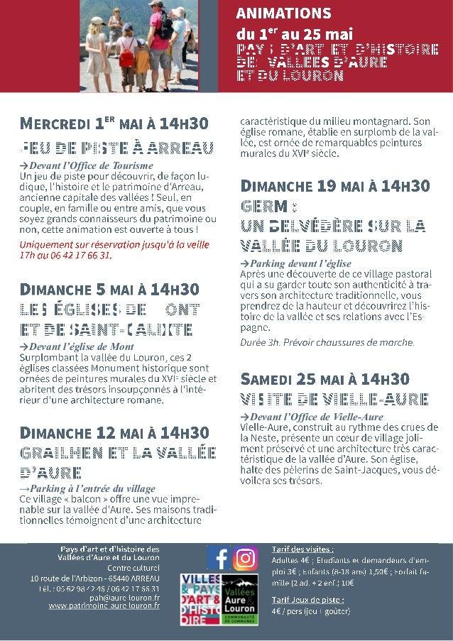 Art Et Du … Histoire Pour Aure Programme Pays Le Des Vallees Louron zGMVpqUS