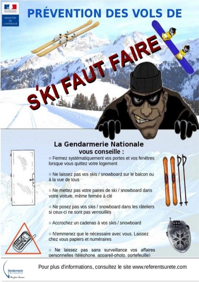 Campagne de prévention des vols de ski