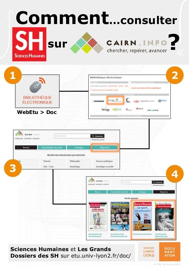 Sciences Humaines et Les Grands Dossiers des SH sur etu.univ-lyon2.fr/doc/ sur Comment…consulter ? 1 2 3 4 WebEtu > Doc CC...