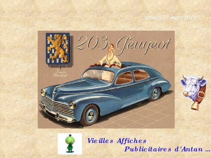samedi 27 mars 2010 Vieilles Affiches  Publicitaires d'Antan …