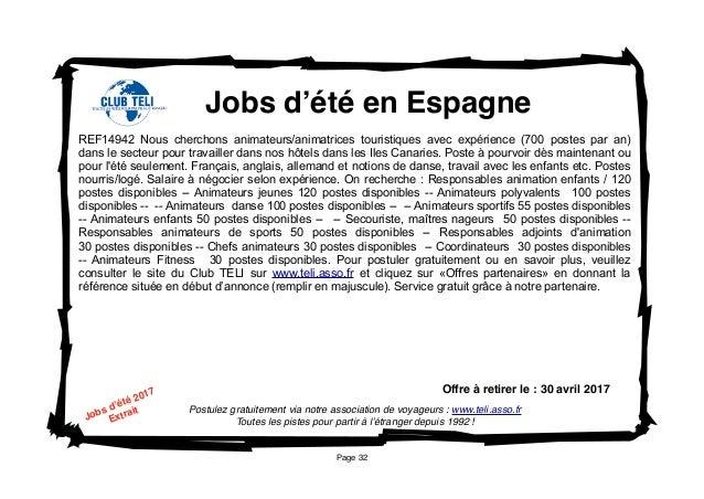 affichettes offres d u0026 39 emploi pour l u0026 39  u00e9tranger janvier 2017