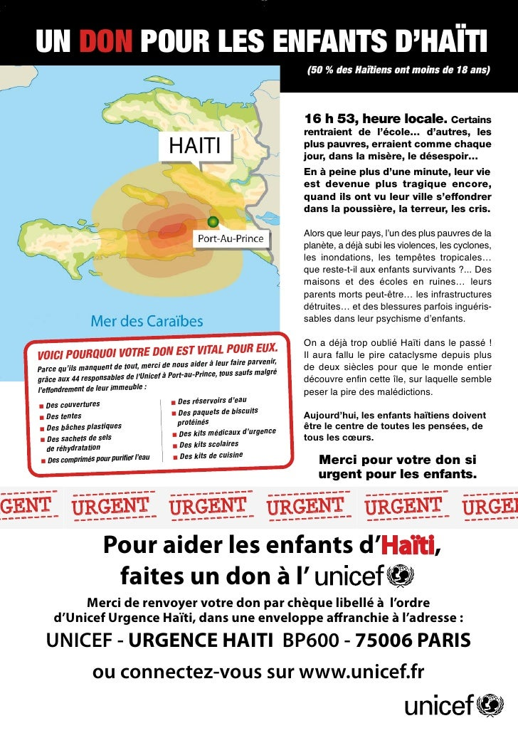 nce Haiti Unicef 01-10:- 14/01/10 Unicef 01-10:-                         Annonce Haiti 19:51 Page 1     14/01/10 19:51 Pag...