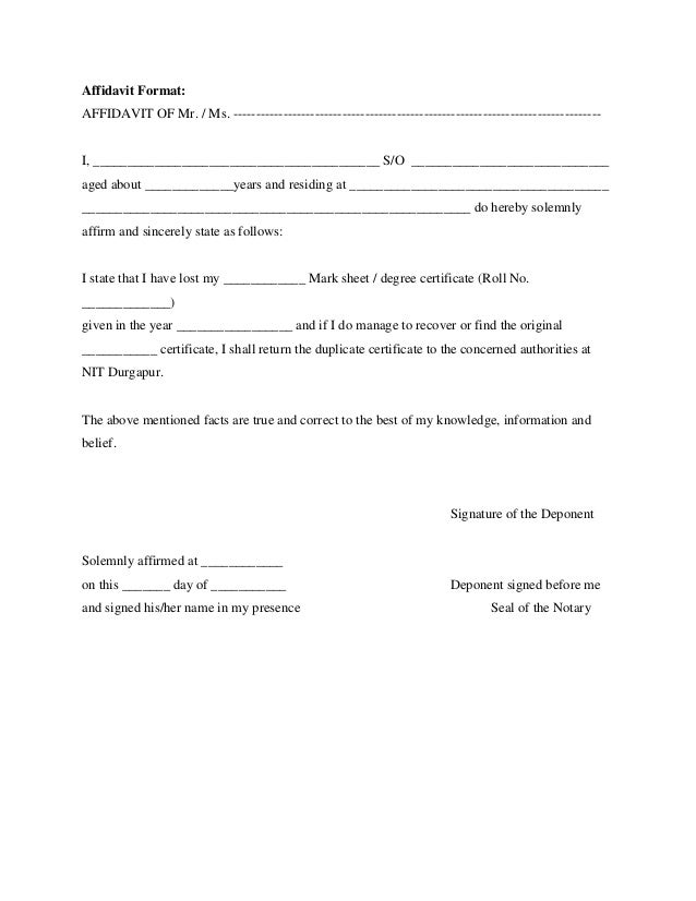 Affidavit format thecheapjerseys Gallery