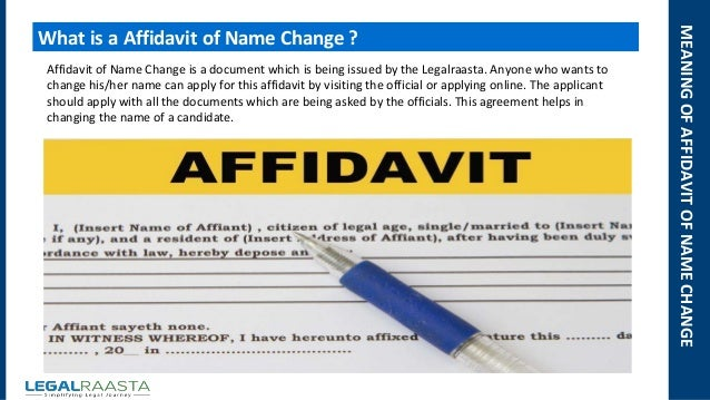 Affidavit for name change after marriage for indian passport