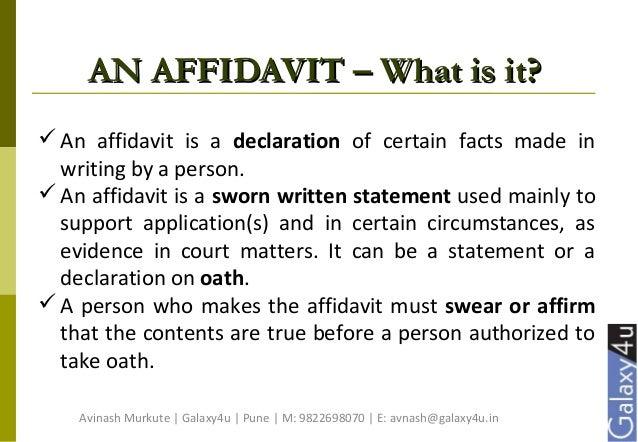 Affidavit Simplified Slide 3