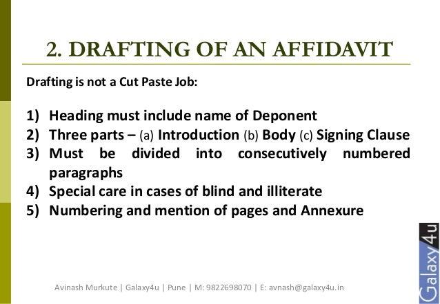 Affidavit Simplified