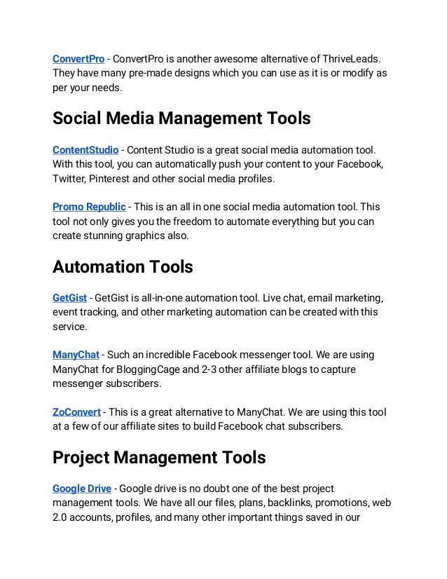 80 Affiliate Marketing Tools - Your Affiliate Success Toolkit