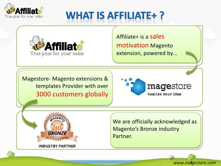 Affiliate+ is a sales                                    motivation Magento                                    extension, ...