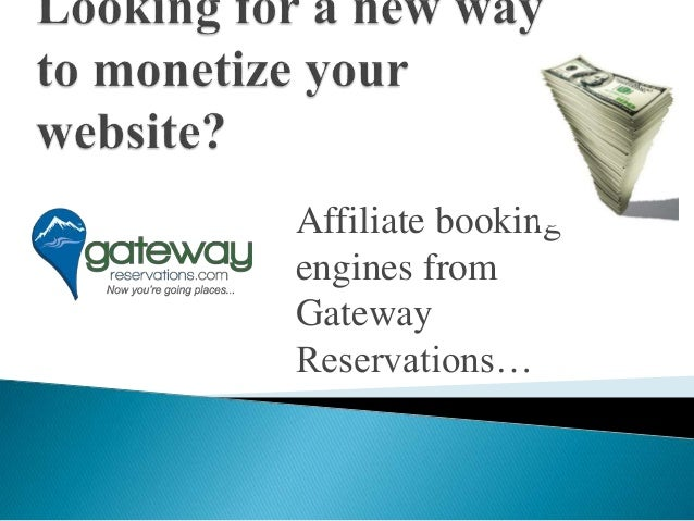 Affiliate booking engines from Gateway Reservations…