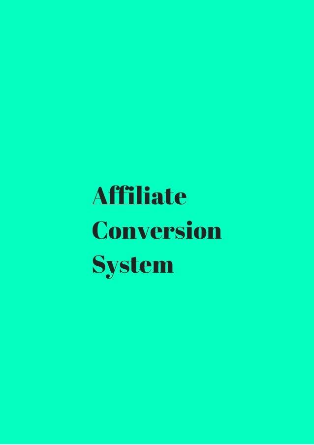 Affiliate  Conversion  System