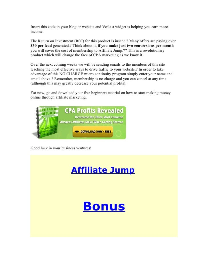 Insert this code in your blog or website and Voila a widget is helping you earn more income.  The Return on Investment (RO...