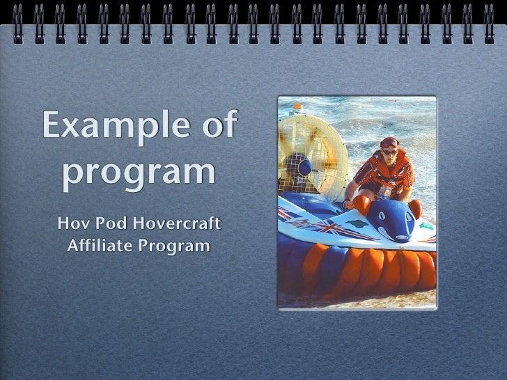 Example of programHov Pod Hovercraft Affiliate Program
