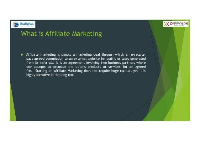 Affiliate marketing Slide 2