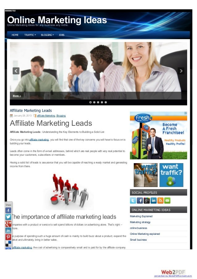 Online Marketing Ideas Online Marketing Ideas for any business any niche.        HOME      TRAFFIC »      BLOGGING »      ...