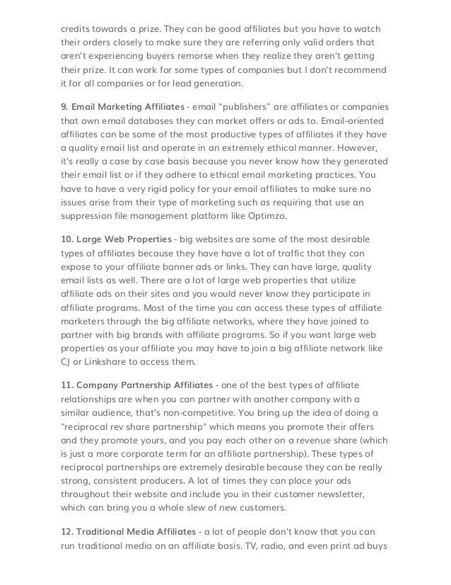 Affiliate Manager Cover Letter - afterelevenblog.com -