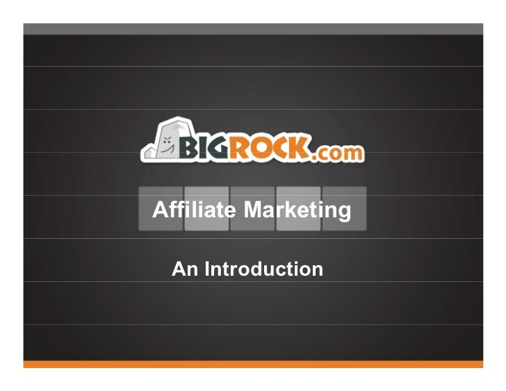 Affiliate Marketing An Introduction