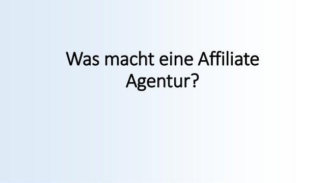 Was macht eine Affiliate Agentur?