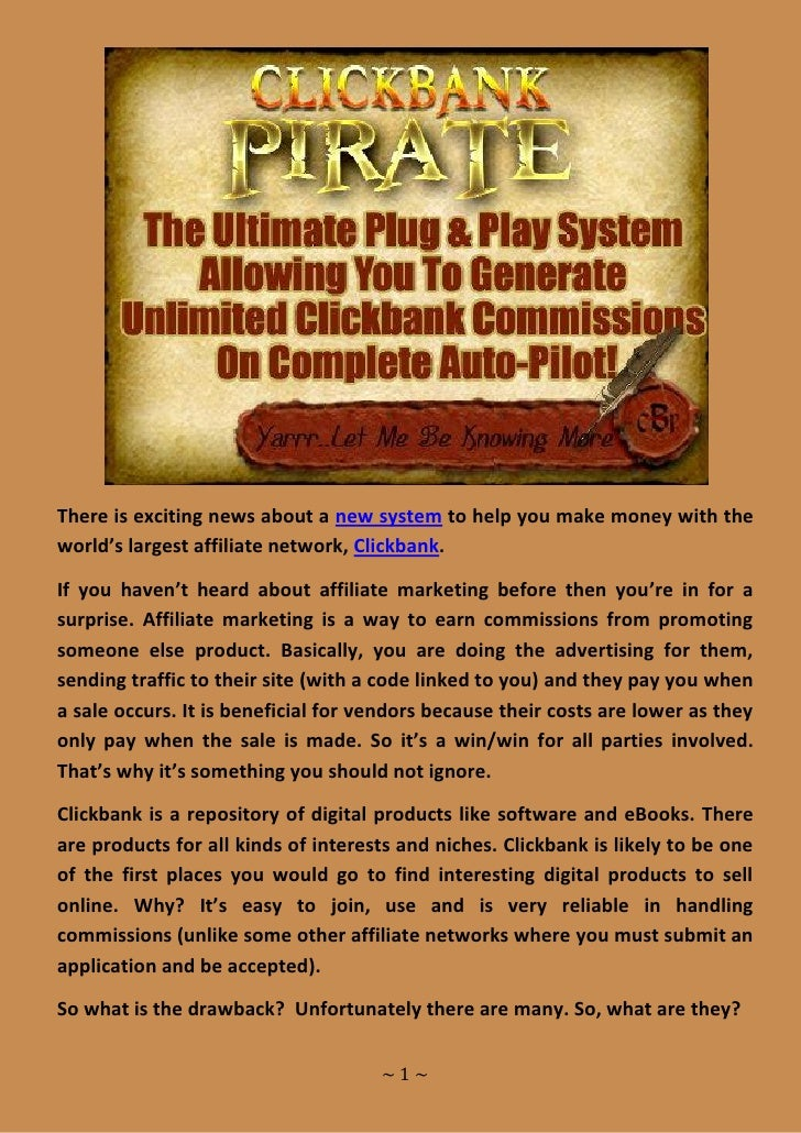 There is exciting news about a new system to help you make money with the world's largest affiliate network, Clickbank.  I...