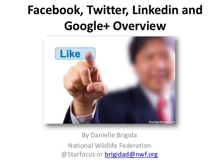 Facebook, Twitter, Linkedin and      Google+ Overview           By Danielle Brigida      National Wildlife Federation     ...