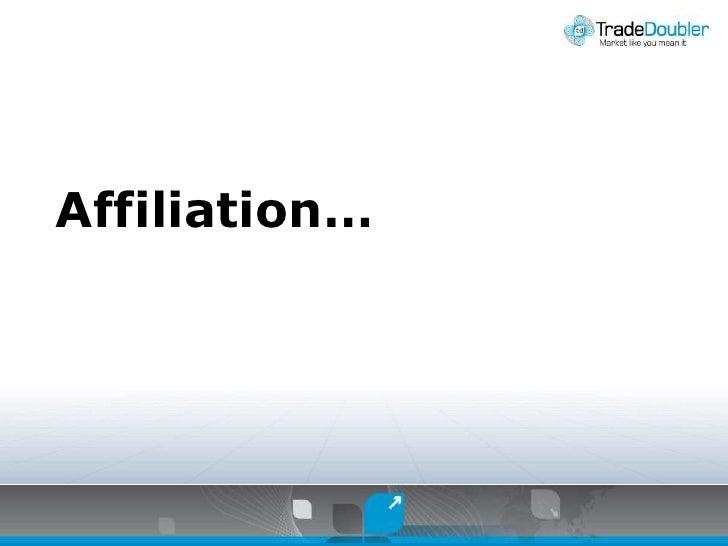 Affiliation…<br />