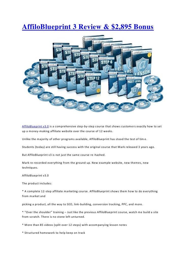 Affilo blueprint 3 review affiloblueprint 3 review 2895 bonusaffiloblueprint v30 is a comprehensive step by malvernweather Images