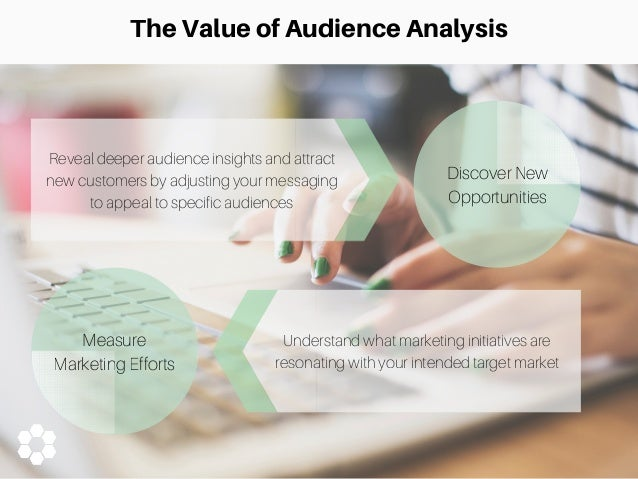 demographics and audience analysis Audience analysis •demographic audience analysis audience analysis • audience size • physical setting • length of presentation • audience disposition toward.