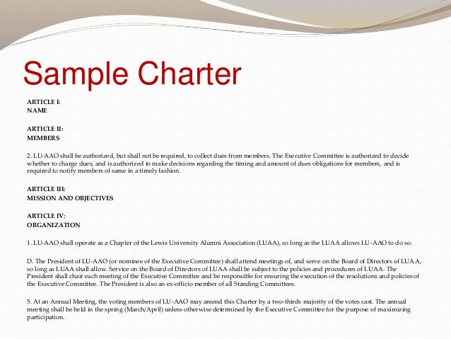 Employee Charter Template. creating a charter for your process ...