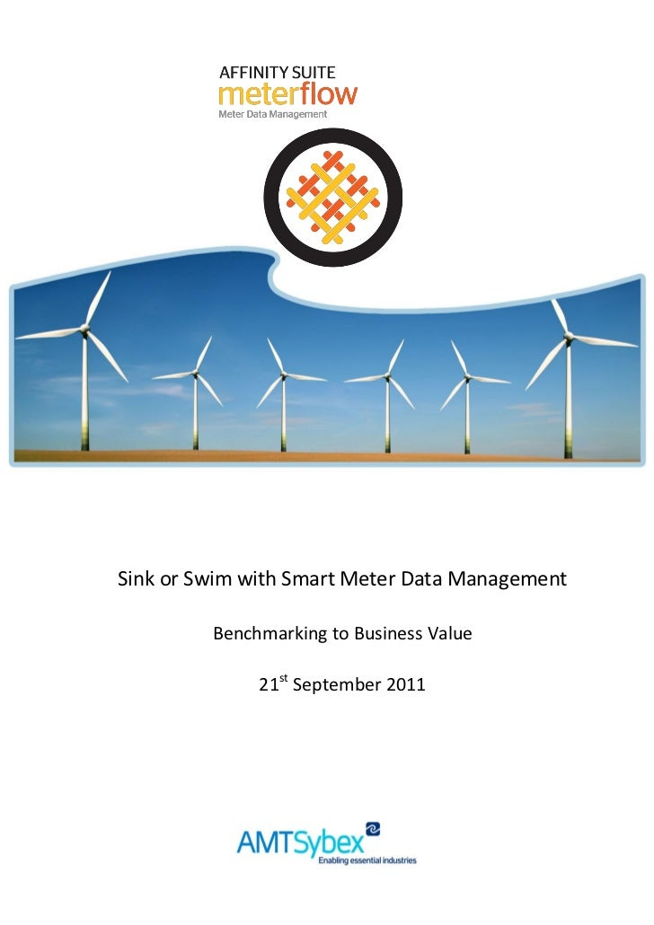 Sink or Swim with Smart Meter Data Management         Benchmarking to Business Value              21st September 2011     ...