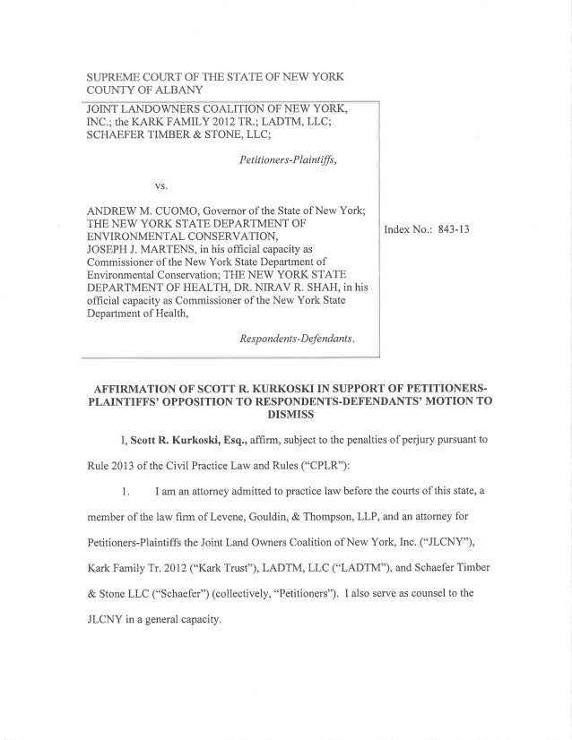 JLCNY Background Information for Albany Court in Article 78 Lawsuit Against Gov. Cuomo