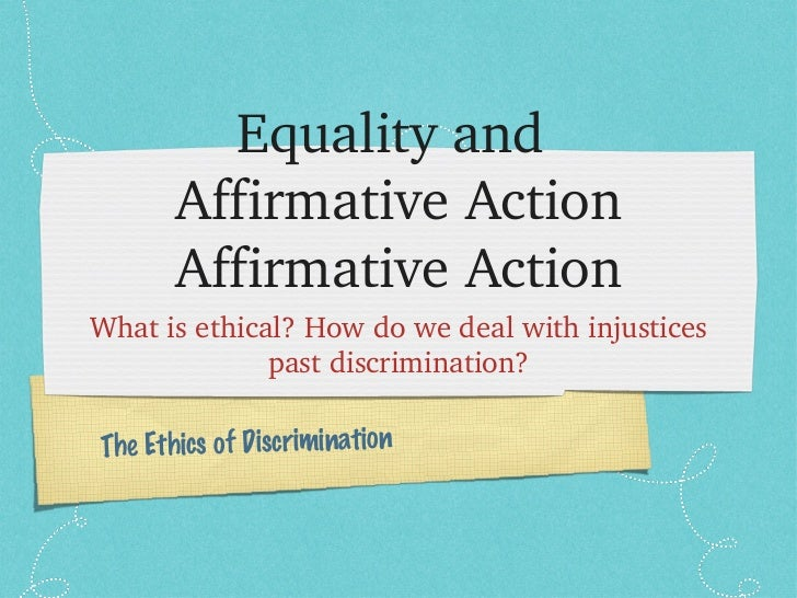10 Reasons Affirmative Action STILL Matters Today