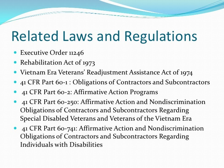 An Overview of Affirmative Action Compliance