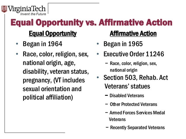 the creation of affirmative action Reviews state legislation and ballot initiatives that have affected affirmative action skip to page content  these reforms include the creation of the talented.