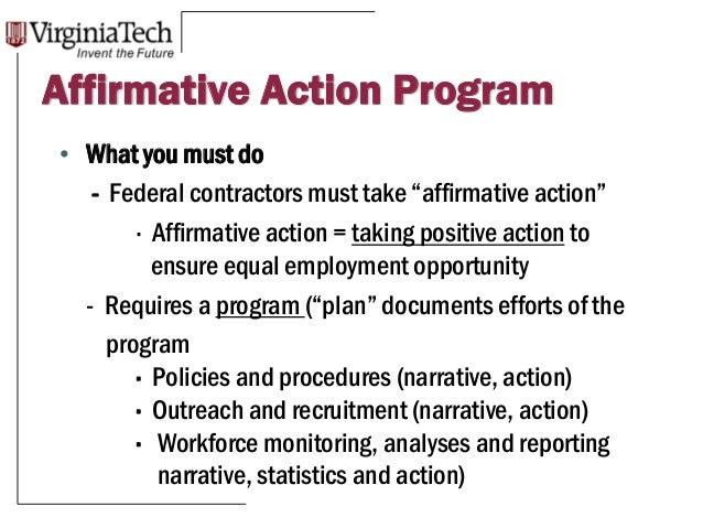 Affirmative Action What A Manager Needs To Know