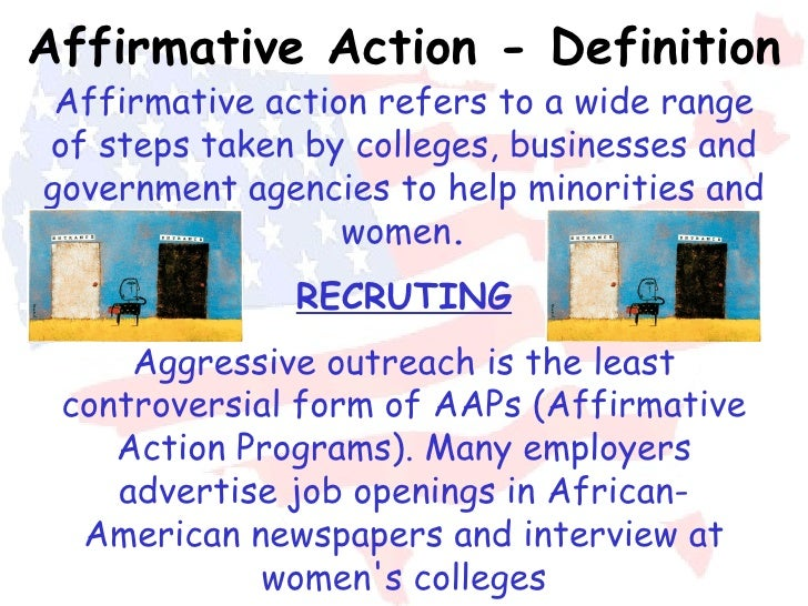 an argument against the affirmative action because it discriminates Concepts of affirmative action and discrimination so that the concept  see, eg,  michael kinsley, the spoils of victimhood: the case against the case against.