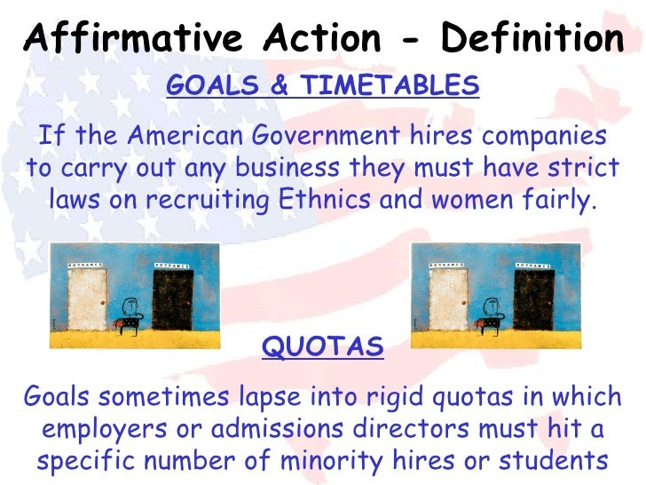 an argument in favor of affirmative action for the minority groups in society Affirmative action  support & opposition  different identity groups,  still exist in our society: affirmative action attempts to create a level playing.