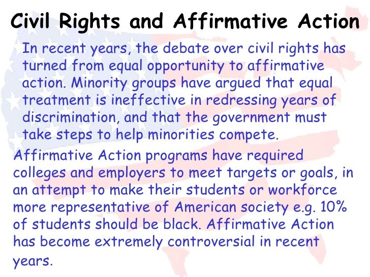 The right approach to affirmative action