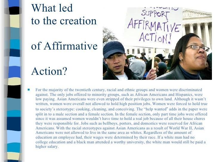 Affirmative Action Presentation