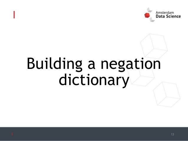 Building a dictionary of affixal negations for Building dictionary
