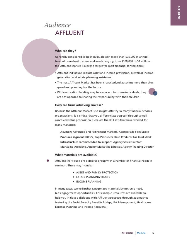 AFFLUENTAudience   AFFLUENT   Who are they?   Generally considered to be individuals with more than $75,000 in annual   he...