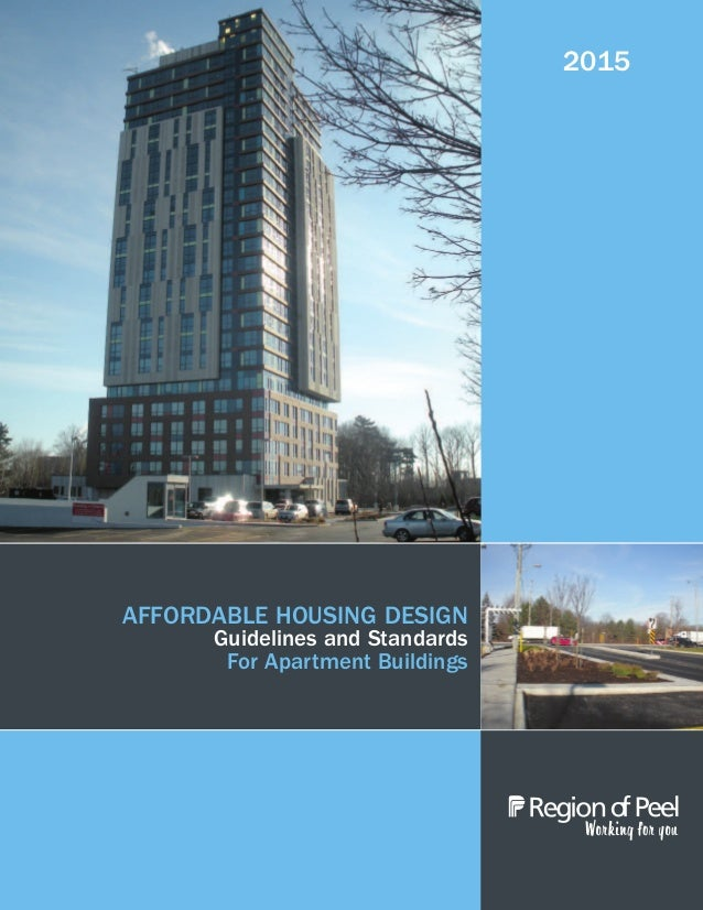 Affordable Housing Design Guidelines And Standards For Apartments