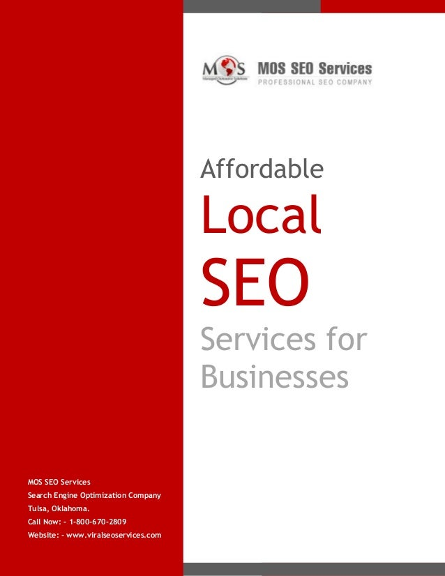 Affordable  Local  SEO Services for Businesses  MOS SEO Services Search Engine Optimization Company Tulsa, Oklahoma. Call ...