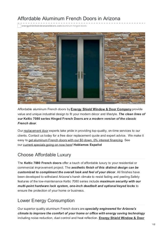 Etonnant Affordable Aluminum French Doors In Arizona  Energyshieldwindowsanddoors.com/aluminum Hinged Doors Affordable Company ...